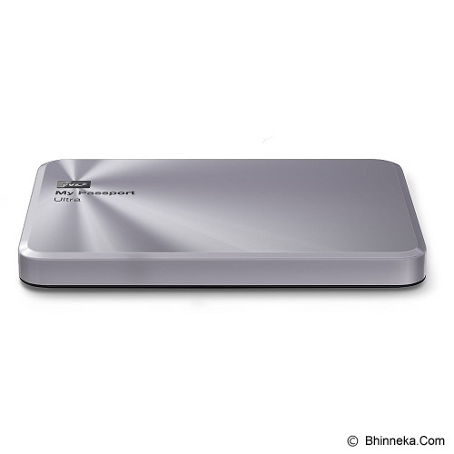 WD My Passport Ultra Metal Edition 1TB USB 3.0 [WDBTYH0010BSL-PESN] - Silver - Hard Disk External 2.5 Inch